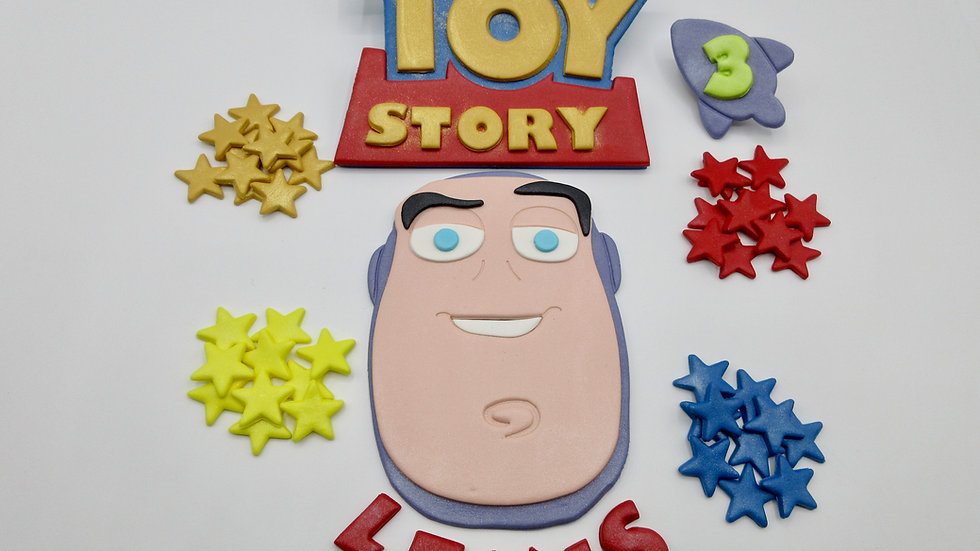 Toy Story Buzz Lightyear edible cake topper.