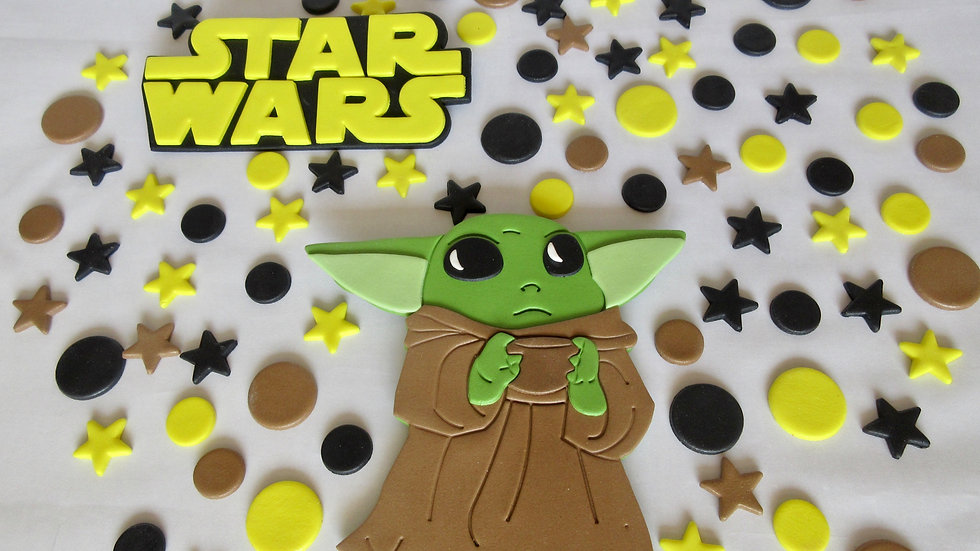 Star Wars Yoda edible cake topper