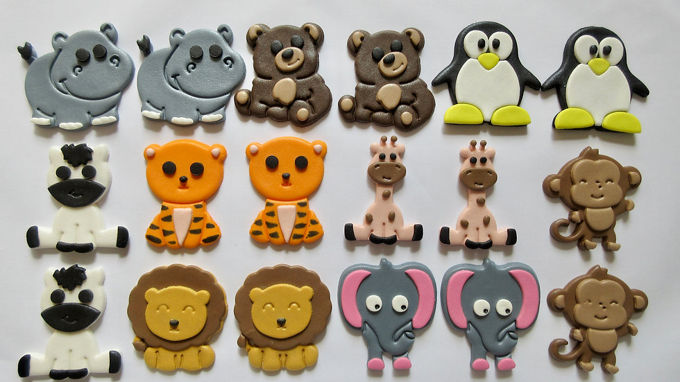 Zoo Animals Edible Cupcake Toppers