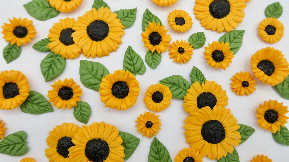 Edible yellow sunflowers.