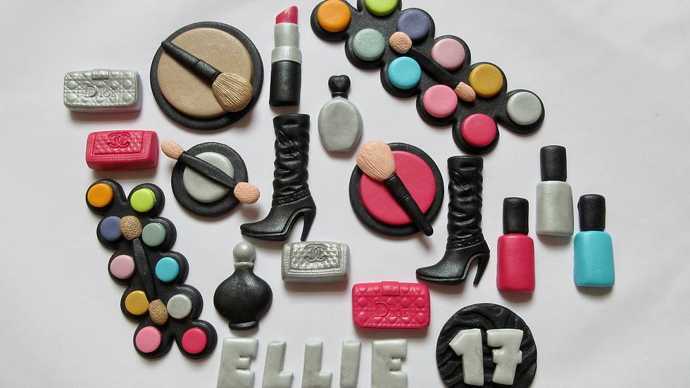 Make Up Cosmetics Edible Cake Decorations.