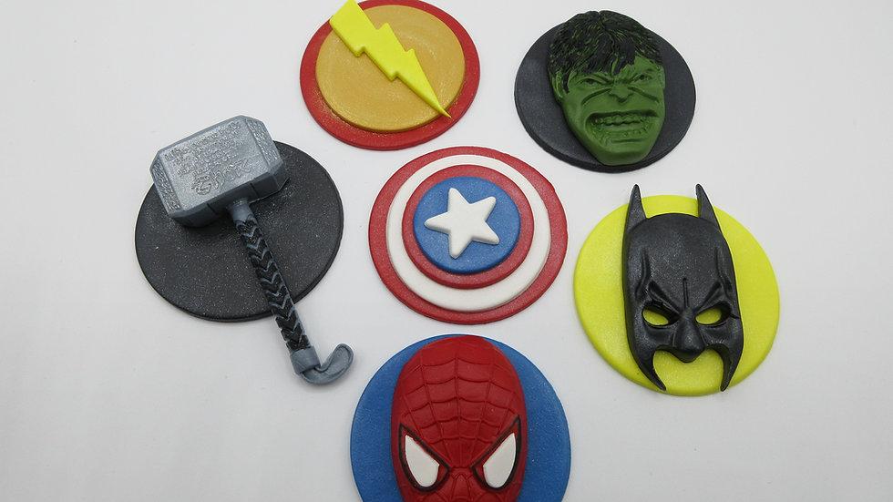 Edible Superhero Cupcake Toppers