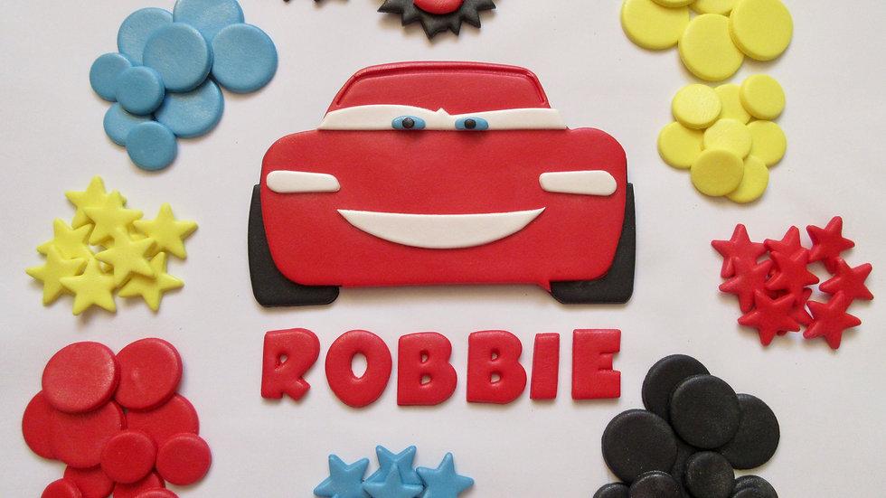 Cars Lightning McQueen Edible Fondant Cake Topper