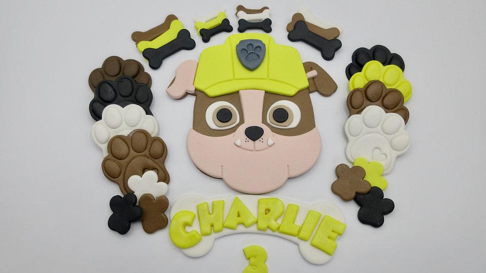Rubble PAW Patrol edible cake topper