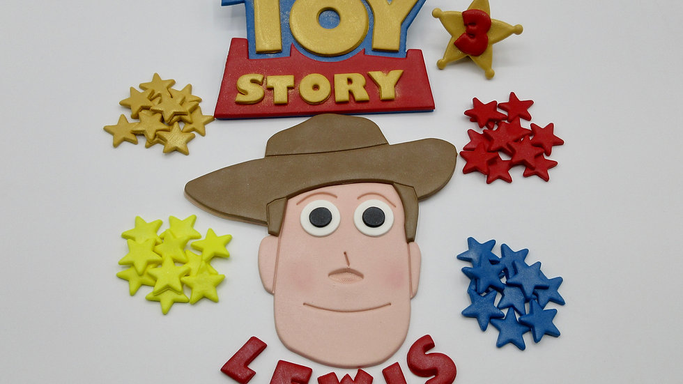 Toy Story Woody edible cake topper. Toy story cake topper.