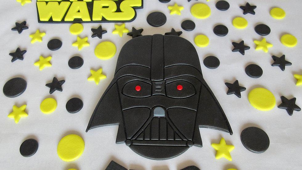 Darth Vader Star Wars edible cake topper