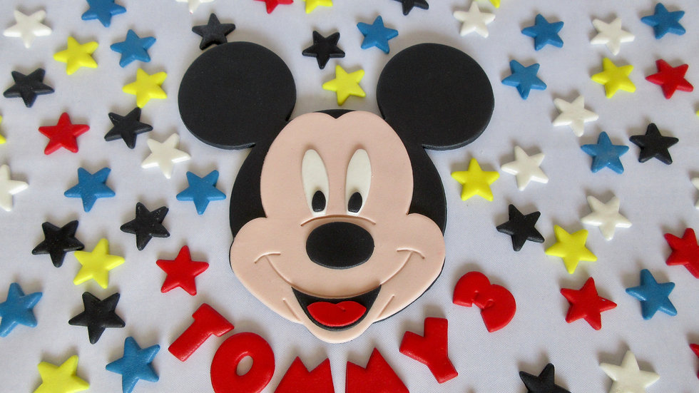 Mickey Mouse edible cake topper.