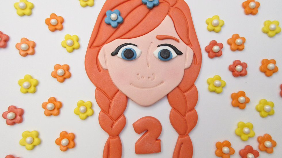 Anna Frozen Edible Cake Topper Personalised.