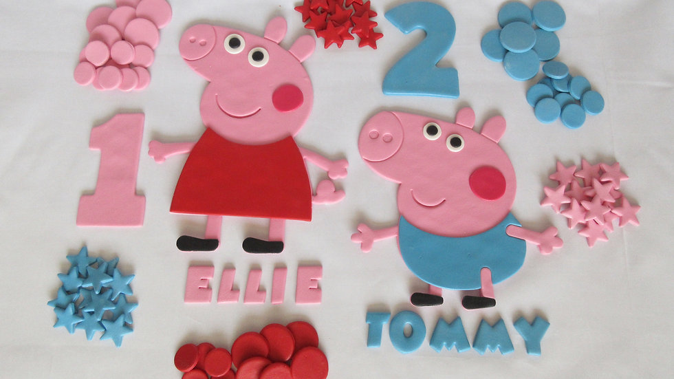 Peppa Pig Edible Cake Topper