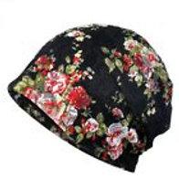 Floral Lace Slouch Cap