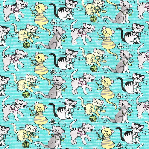 Mask-Teal Cats