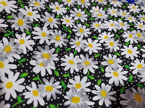 Mask-Reversible Black/Yellow Daisies