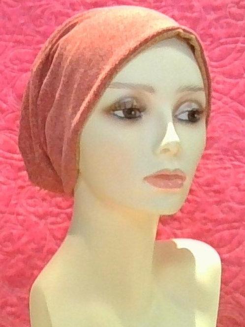 Reversible knit slouchy cap