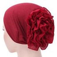 Ruffle-back cap