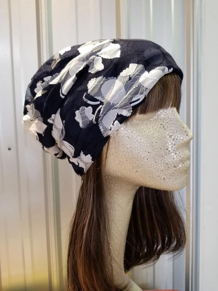 navy and white slouchy