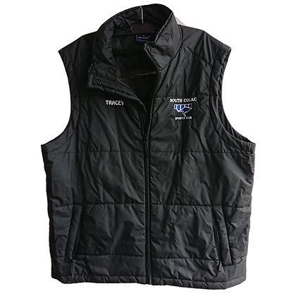 PUFFER VEST - SHINY BLACK