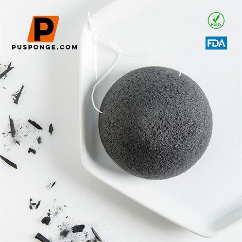 konjac bamboo charcoal facial puff sponge