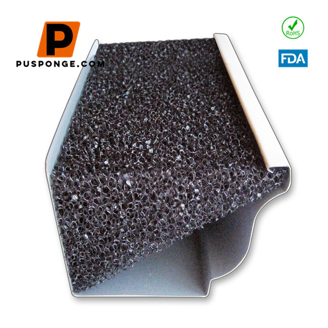 The right triangle gutter filter foam