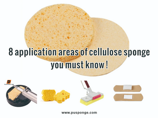 8 application areas of cellulose sponge