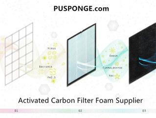 Activated carbon sponge | Different sizes of pores for air filtration