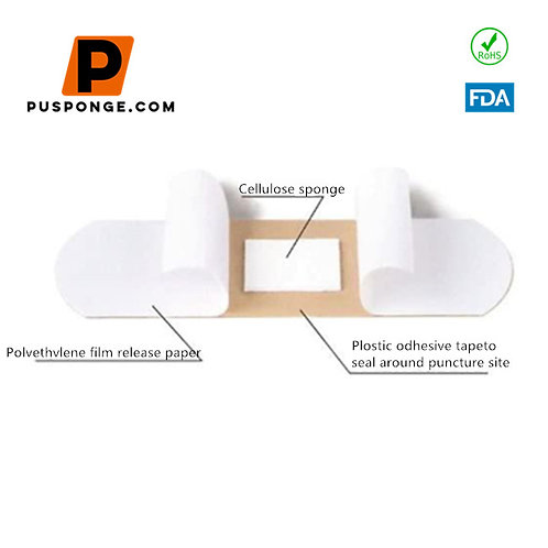 Medical Sterilization Cellulose Sponge Adhesive Plaster