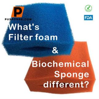 Was unterscheidet Filterschaum und biochemischen Schwamm?