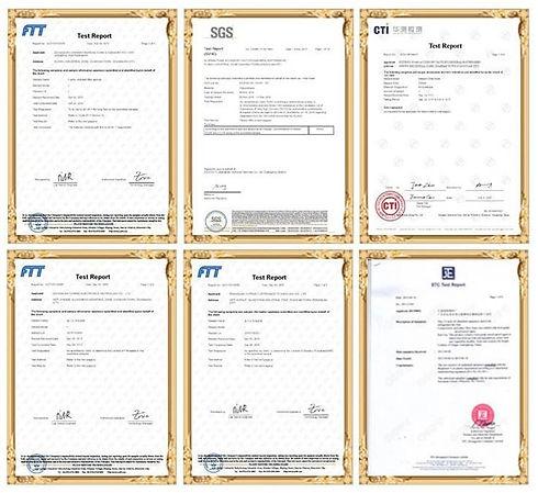 PUSPONGE Qualification certificate, SGS, FDA