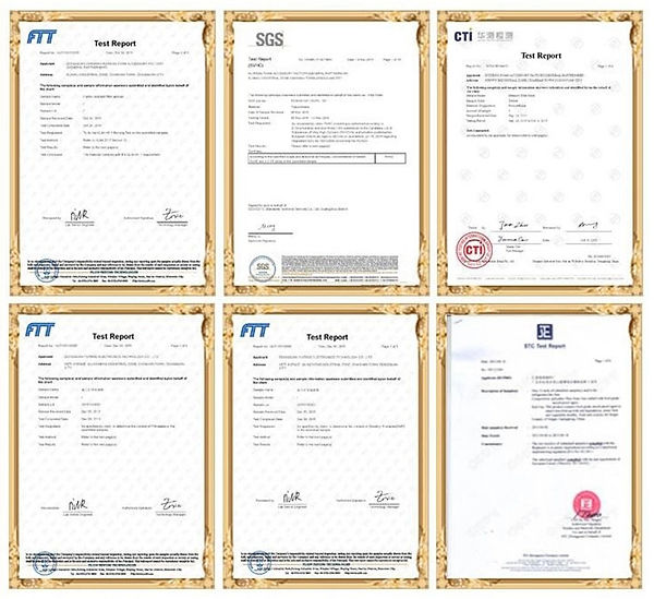 PUSPONGE Qualification certificate, SGS, FDA