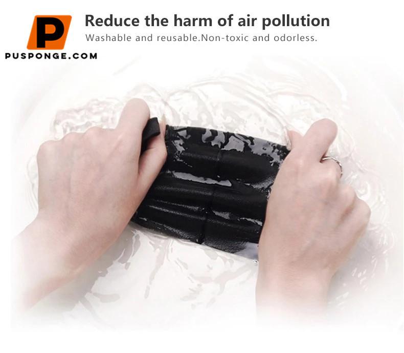 washable and reusable sponnge makes