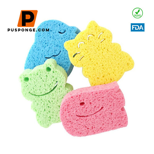customized lovely cellulose sponge for baby wash