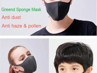 What is the PU sponge dust face mask effectiveness?