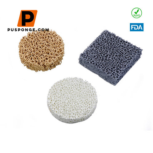 Ceramic Filter Sponge or Open Cell Reticulated Polyurethane Foam Sponge Rew Mate