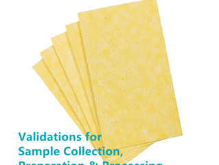 How to use cellulose sponge validations for sample collection, preparation & processing?
