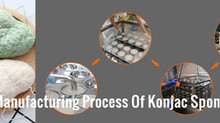 What is the manufacturing process of the konjac sponge?