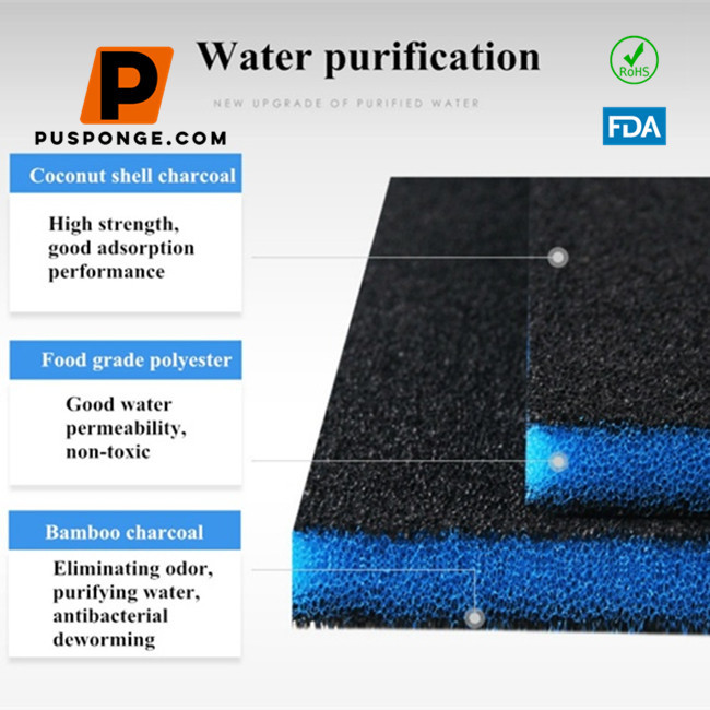 Aquarium Filter Activated Carbon Sponge