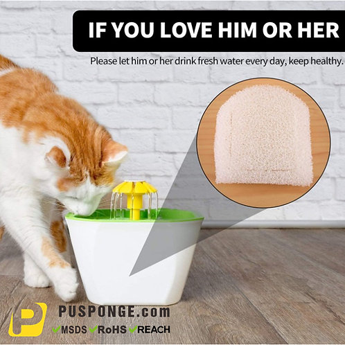 Replacement Foam Filter Fit for Pet Fountain keep cat's water clean