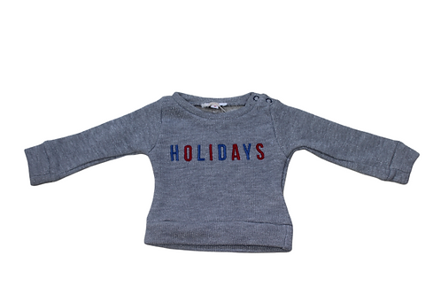SWEAT BB HOLIDAYS GLITTER CENDRE ARGENT