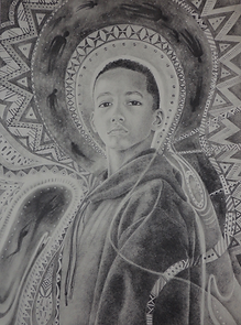 Hoodie, 2017. Robyn Phillips-Pendleton. Powdered graphite and Tomboy MONO pencils on Stonehenge paper, 26 ¼ x 20 inches. Courtesy of the Artist.s-Pendleton.