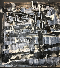 A Heap of Broken Images #1, 2017. Barbara Warden. Acrylic enamel, charcoal, ink, oil pastel, wash, and glue on Arches paper, 41 ½ x 41 1/2 inches.