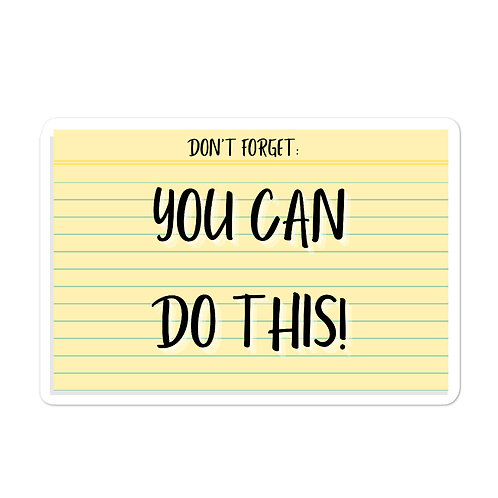 You Can Do This! Flashcard Sticker