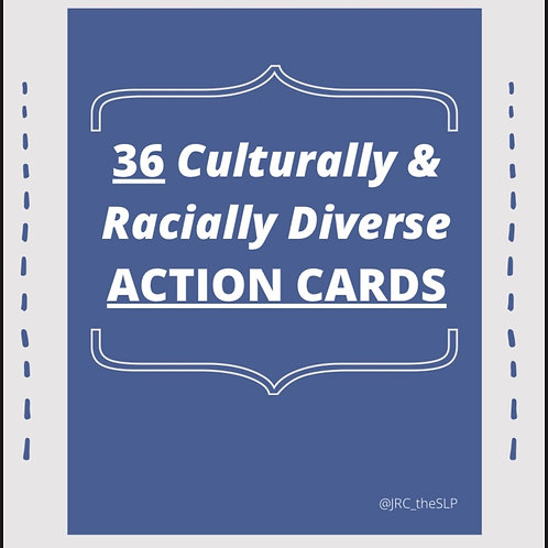 36 Racially and Culturally Diverse Action Cards
