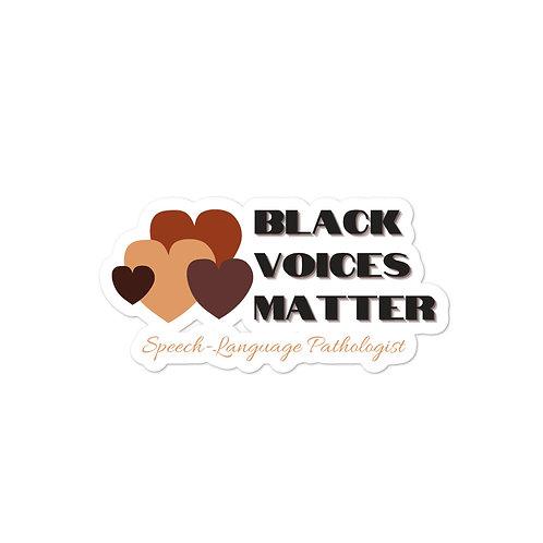 SLP Black Voices Matter Sticker