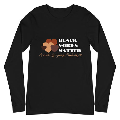 Black Voices Matter Long Sleeve Tee