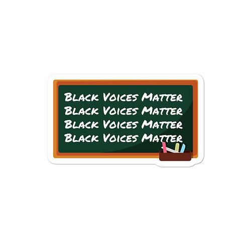 Black Voices Matter Chalkboard Sticker