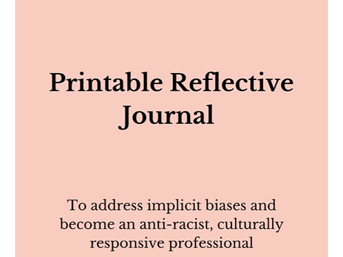 Printable Reflective Journal