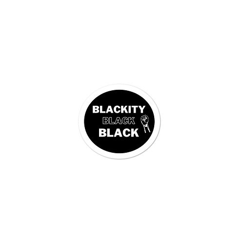 Blackity Black Black Sticker