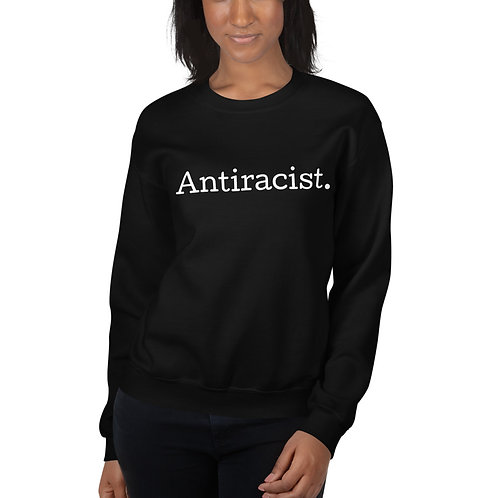 Antiracist Crewneck Sweatshirt (Dark Colors)