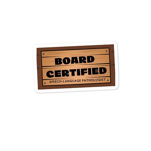Board Certified SLP Sticker