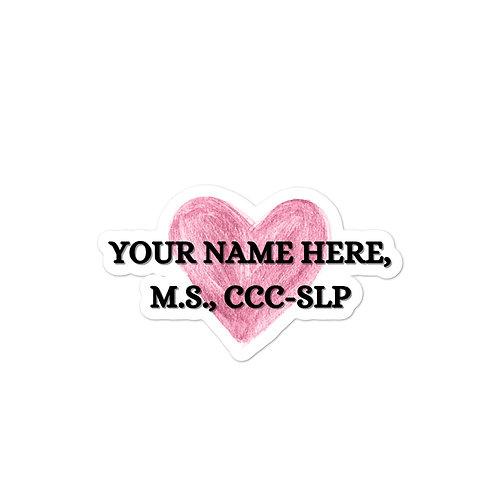 Customizable Heart Sticker