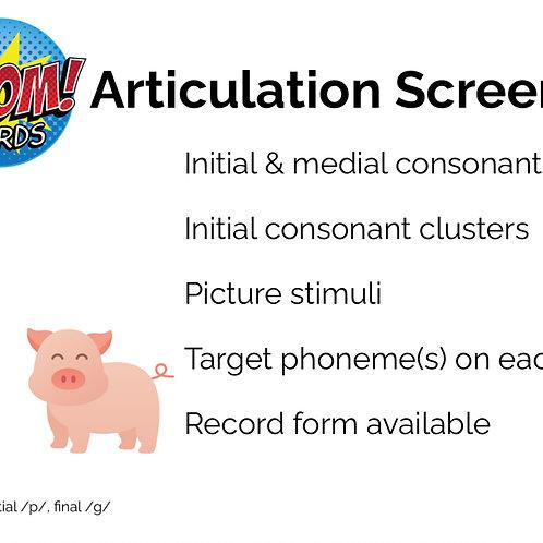 Articulation Screening BOOM Deck